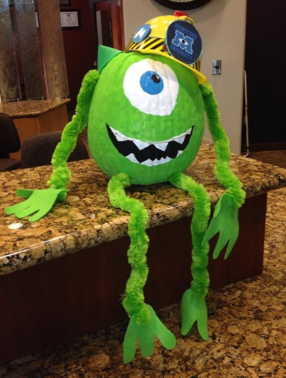Monsters Inc. U Mike Pumpkin! By Kylie