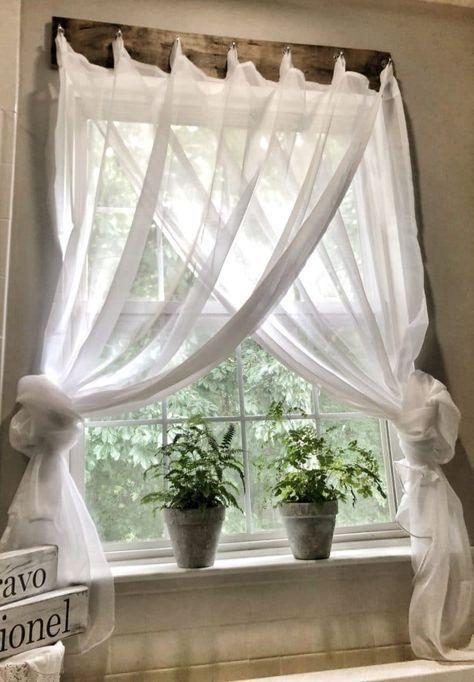 Photo of Simple Farmhouse Window Treatments • Maria Louise Design