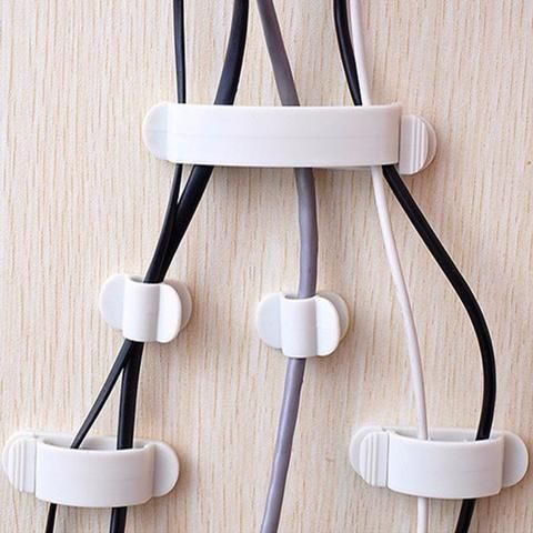 10pcs Cable Cord Wire Line Plastic Organizer Clips Ties Fixer Fastener Holder