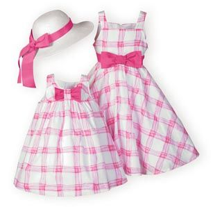 Pretty Pink Plaid Dress