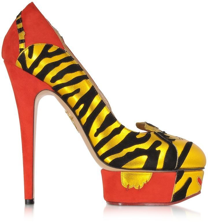 9b2b0afd18d3 Charlotte Olympia Ninivah Chinese Red Platform Pump on shopstyle.com ...