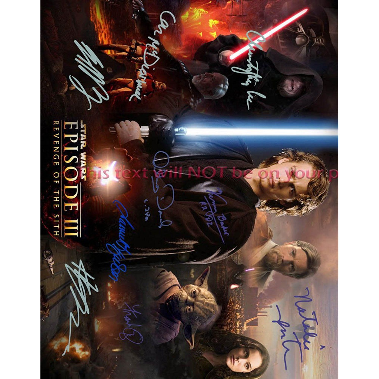 Star Wars Episode Iii Revenge Of The Sith Autographed 11x14 Poster Photo You Can Get Additional Detail Star Wars Episodes Photo Posters Star Wars