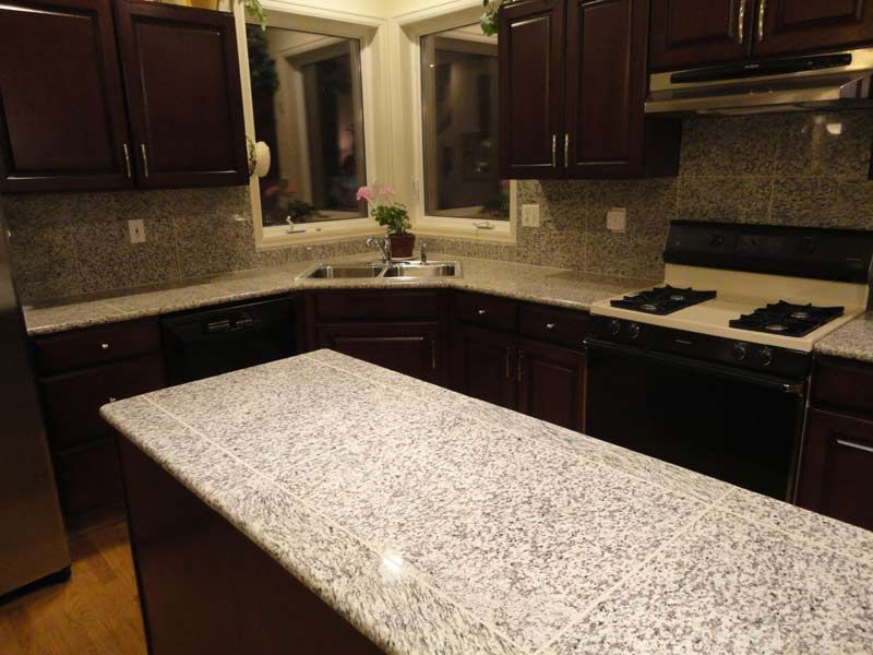 Lazy Granite Tile For Kitchen Counters Are Available In White Tiger.  Similar Granite Tile Colors Are Imperial