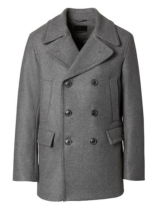 93088b4c250b7 Banana Republic Mens Italian Wool Blend Twill Peacoat | Products ...