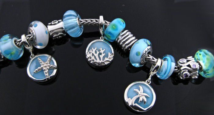 Charms for Bracelets and Necklaces Fan Rake Charm