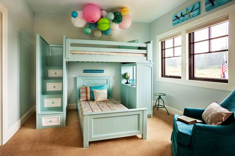 Letti A Castello Per Bambini Piccoli : Letti a castello in legno dal design particolare loft