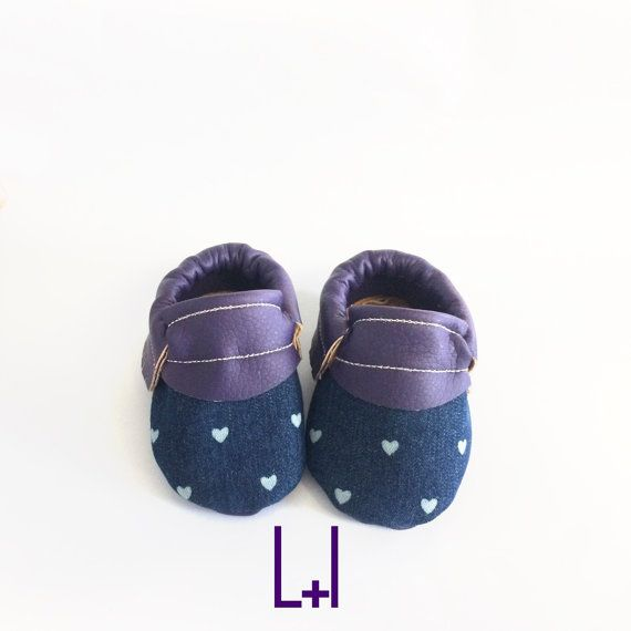Heart Moccasins  ANY COLOR Faux Leather by LiamandIsabella on Etsy