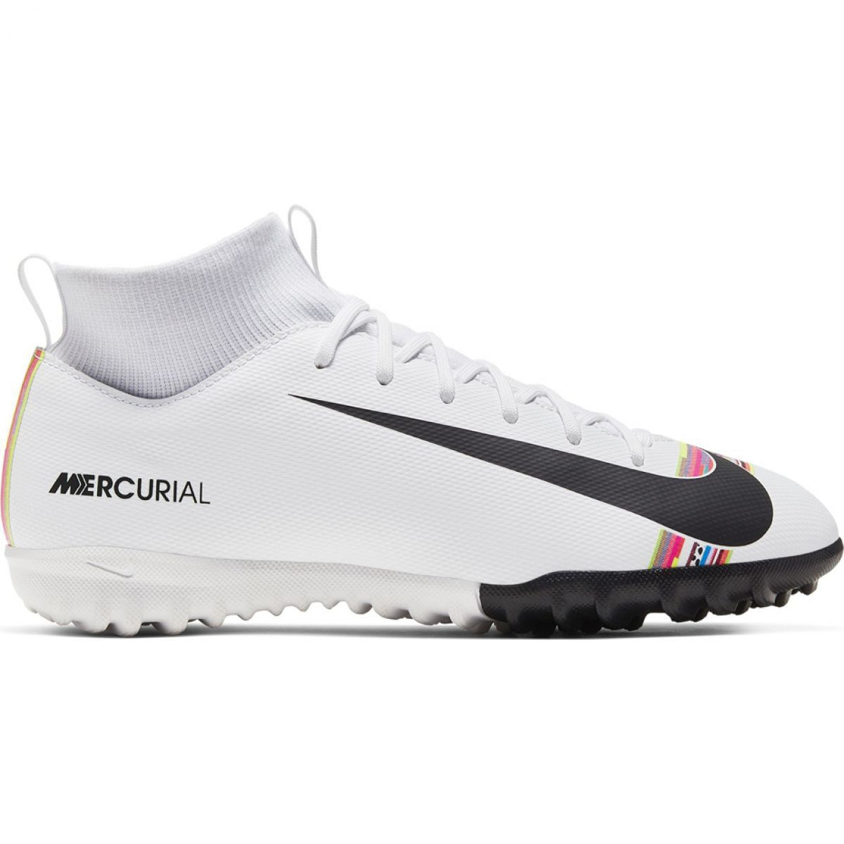 Buty Pilkarskie Nike Mercurial Superfly X 6 Academy Tf Jr Aj3112 109 Biale Wielokolorowe Astro Turf Trainers Football Boots Football Boots Astro