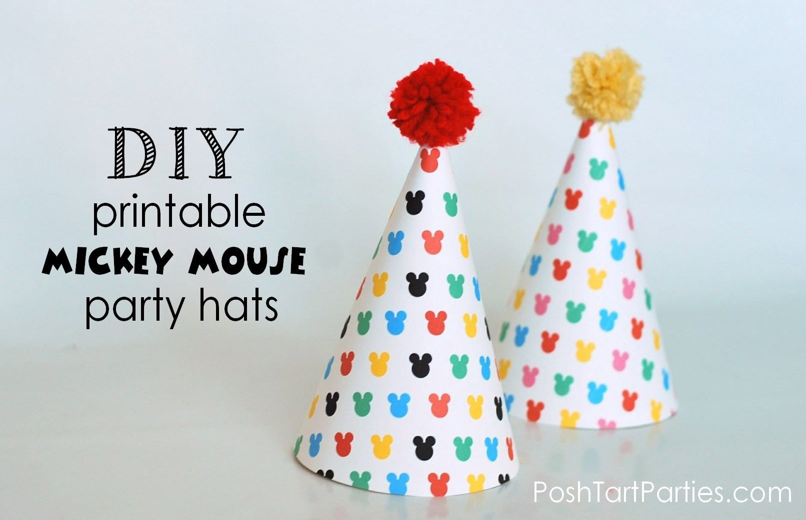 Printable Mickey Mouse party Hat | Mickey & Minnie Mouse & Friends ...