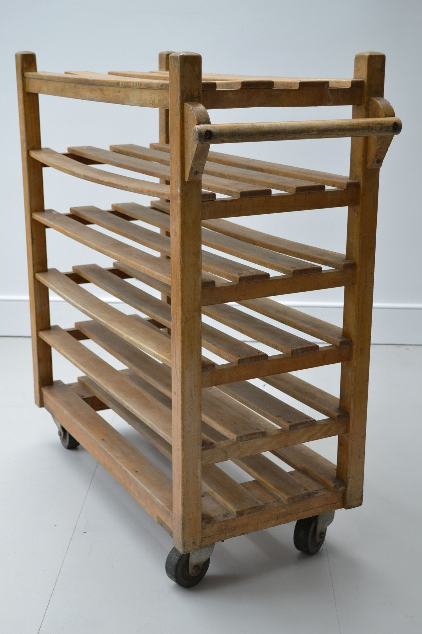 industrial vintage solid wood bakers trolley from etcetera would