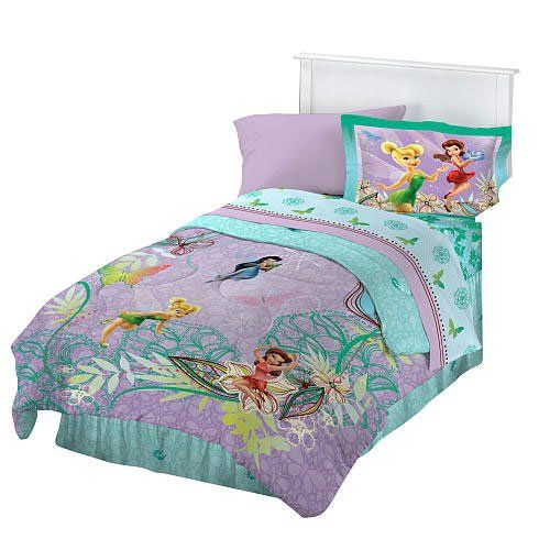 Disney Fairies Butterfly Glow 4pc Full Bedding Sheet Set Disney