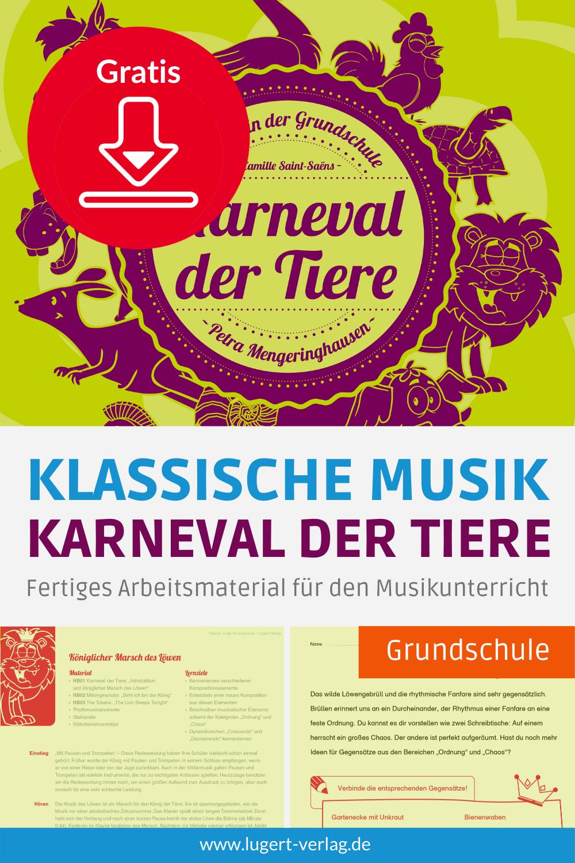Gratis Download Unterrichtsmaterial Klassik Fur Den Musikunterricht In Der Grundschule In 2020 Musikunterricht Grundschule Musik