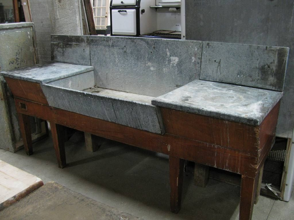 Antique Soapstone  Slate Sinks  love the continuous