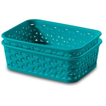 Y Weave 2 Pk Extra Small Storage Tubs   Blue   Room Essentials™