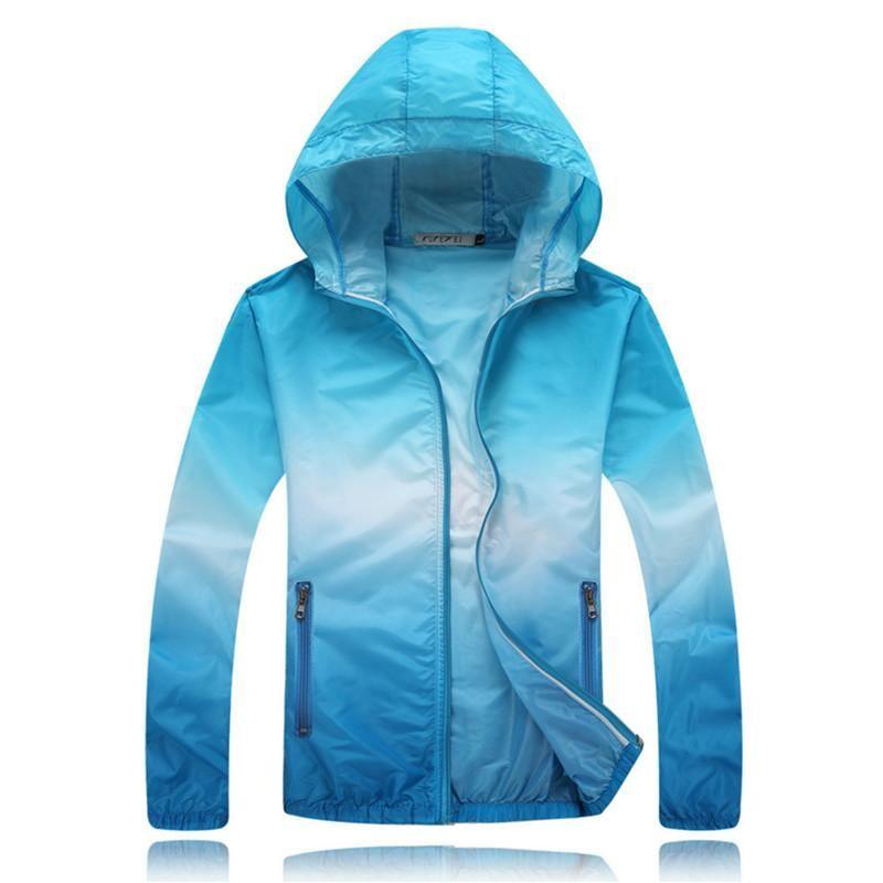 9a8ee4bcca53 2017 Summer Sunscreen Coat Jacket Unisex Windbreaker Waterproof Thin Hooded  Zipper Quick Drying