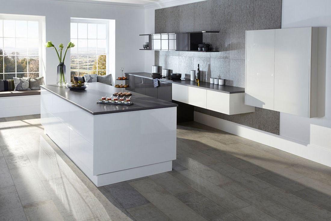 Natural Grey Polished Concrete Floor System Concreate Archipro Kitchen Interior Design Modern White Gloss Kitchen Kitchen Design