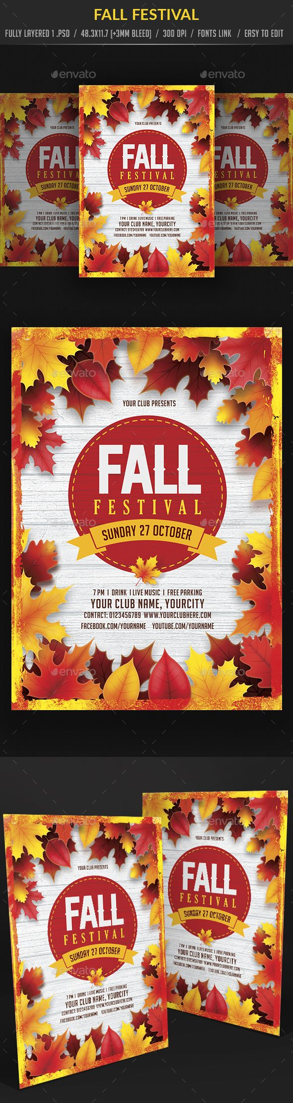 fall festival autumn fall pinterest flyer template template