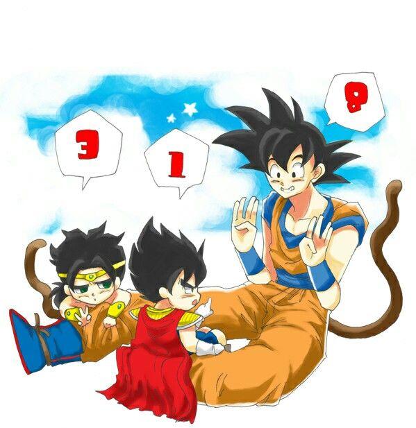 Goku And Kid Vegeta Broly Anime Dragon Ball Super Dragon Ball Artwork Dragon Ball Image