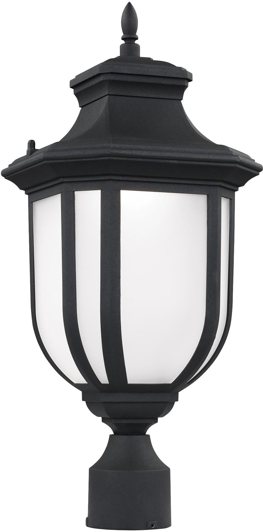 0-007927>Childress 1-Light LED Outdoor Post Lantern Black