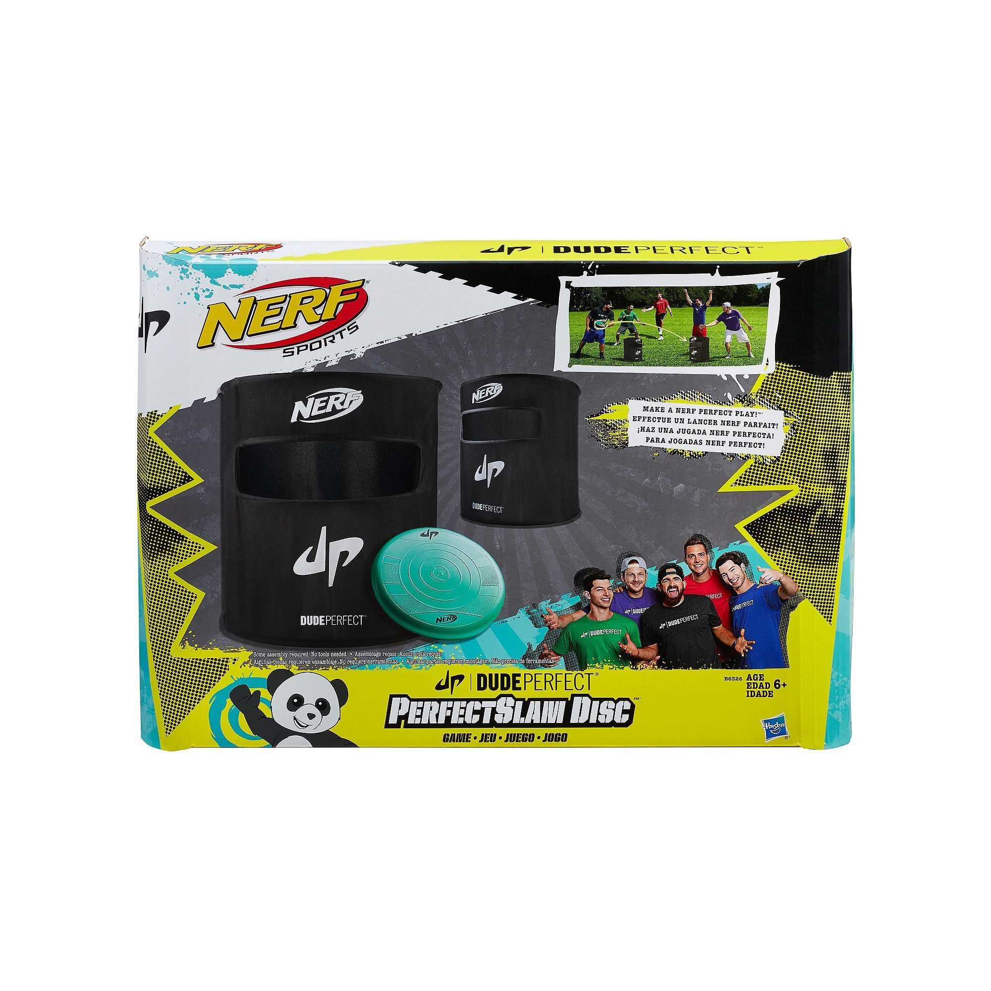 Nerf Dude Perfect PerfectSlam Disc Game Multicolor