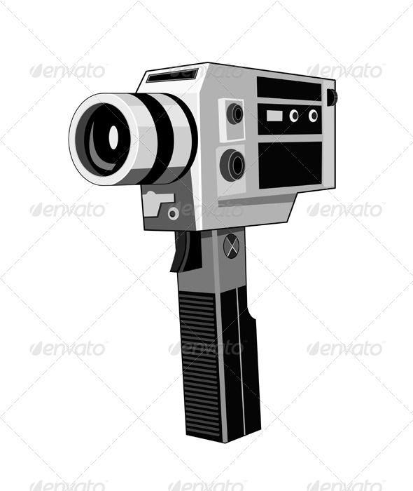Vintage Video Camera Retro Vintage Video Camera Video Camera Retro