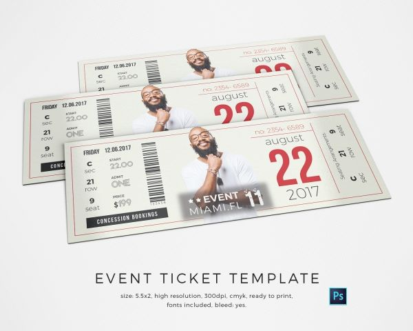 Event Ticket Template  Tickets    Ticket Template