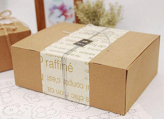 Natural Kraft Box 24 X 18cm Set Of 4 U2634 Kraft Boxes Kraft Box
