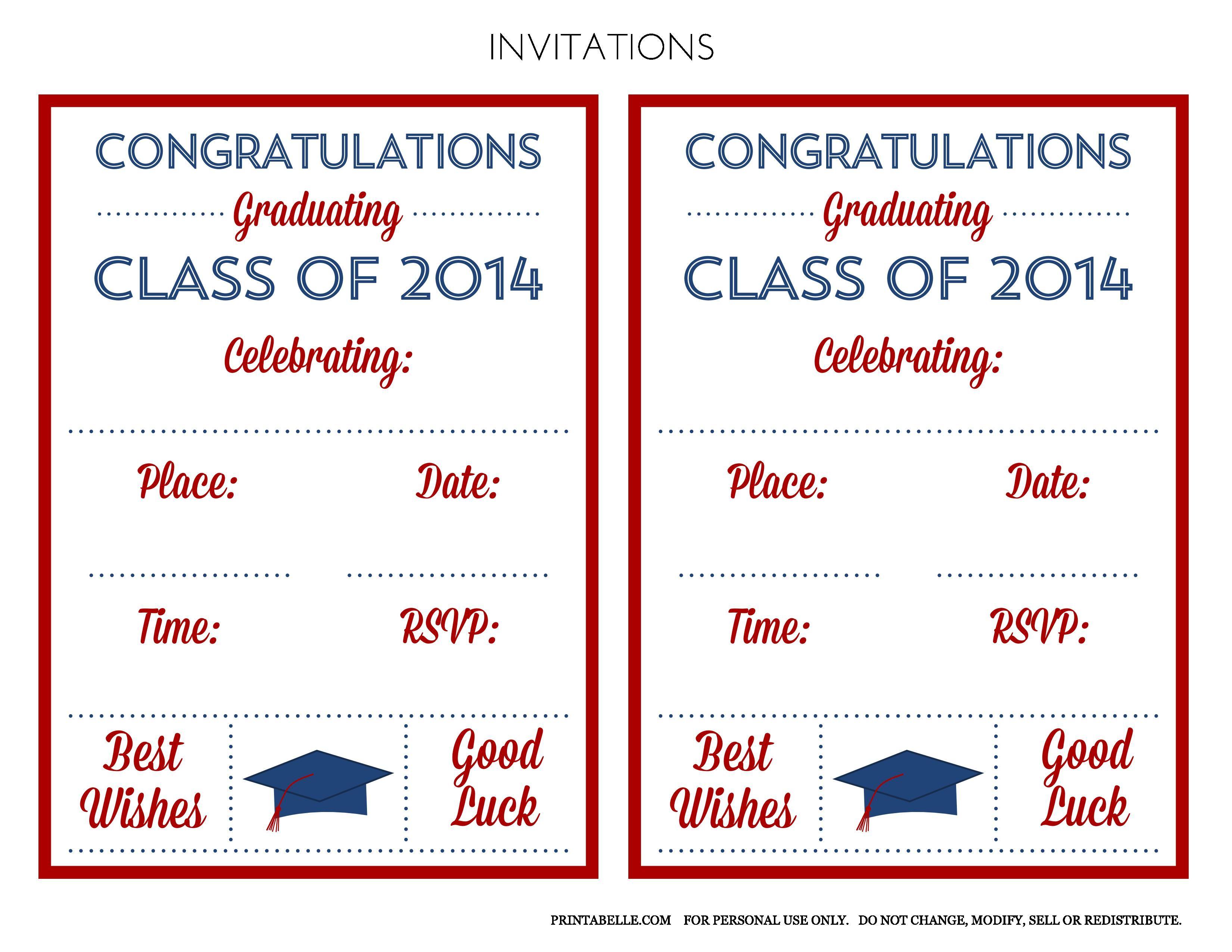 Graduation Invitation  Graduation Invitations Templates  Superb