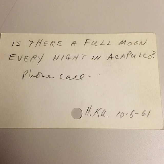 """""""Is there a full moon every night in Acapulco?"""" Wouldn't that be a lovely sight?  #letmelibrarianthatforyou"""