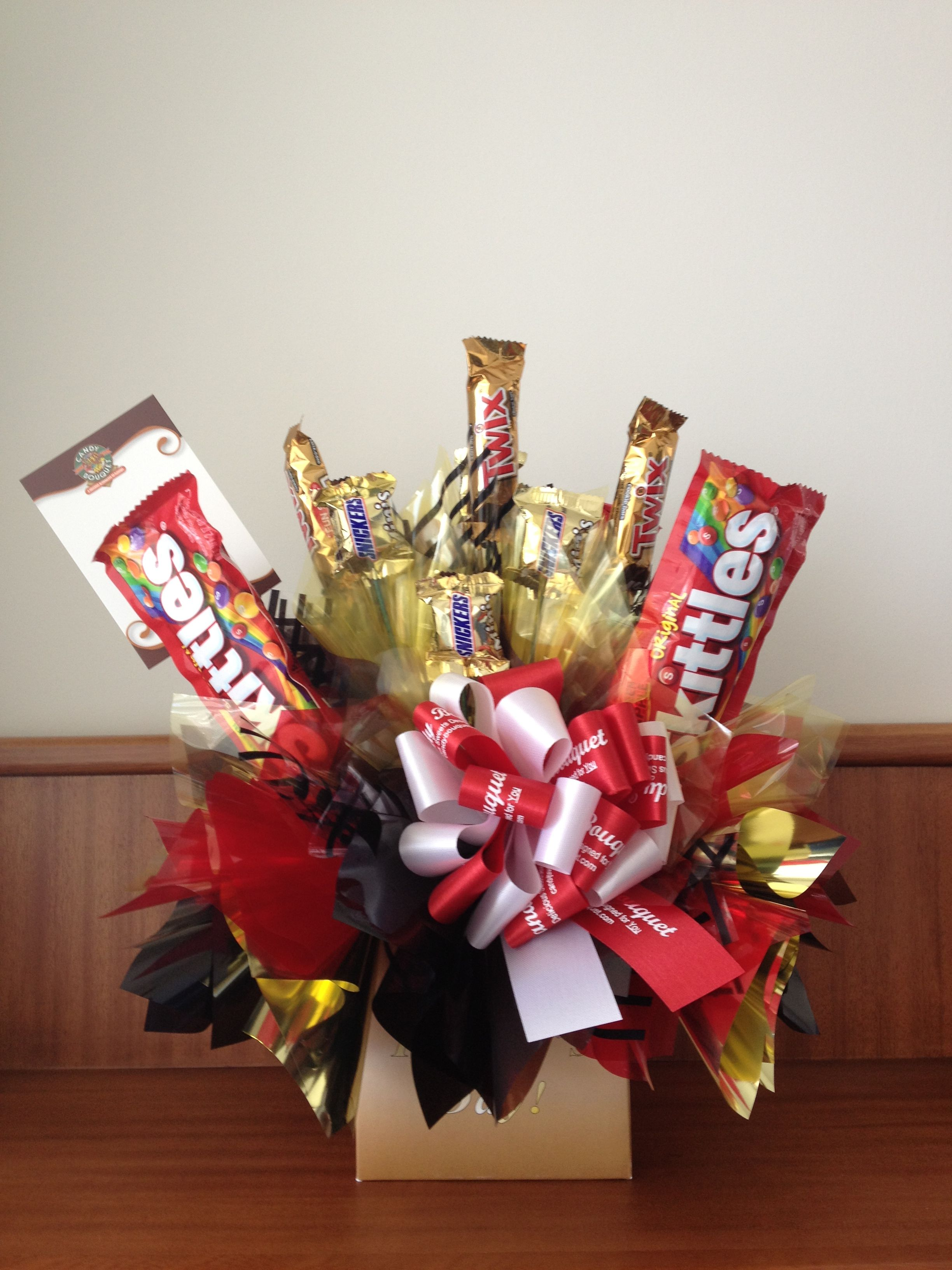 Pin By Karla Moran On Candy Bouquet Chocolate Bouquet Diy Gifts Candy Bouquet