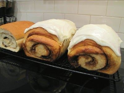 Cinnamon Roll Bread, can be eaten with or without icing-- whatttt
