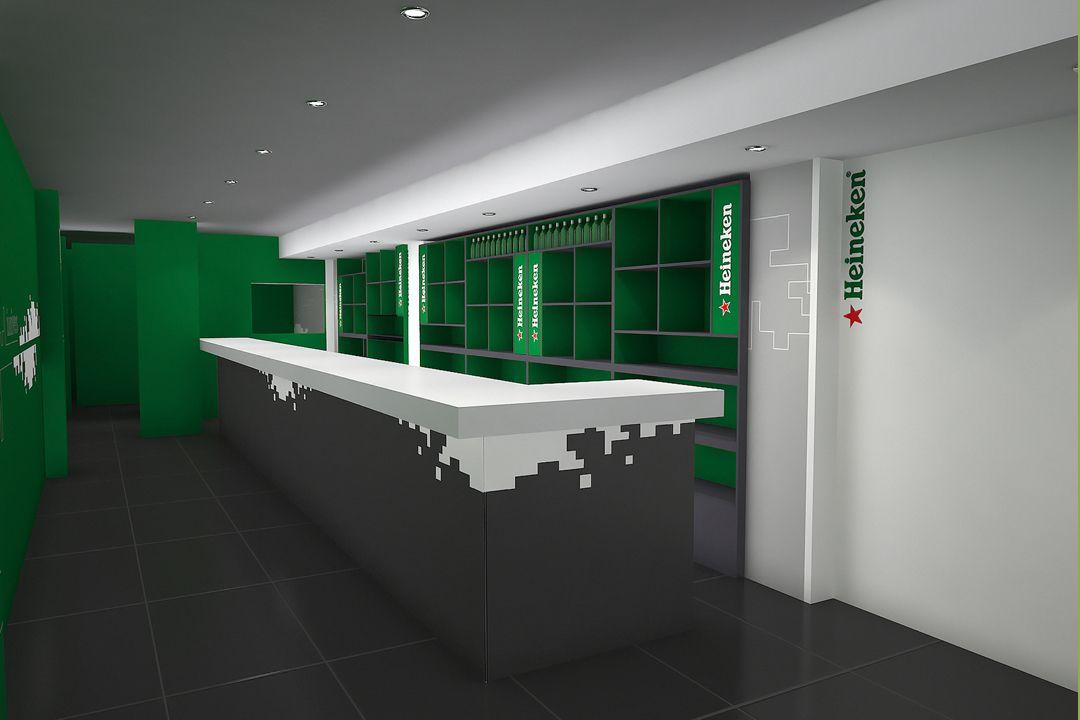 Dise o de interiores para la empresa heineken for Curso decoracion de interiores madrid