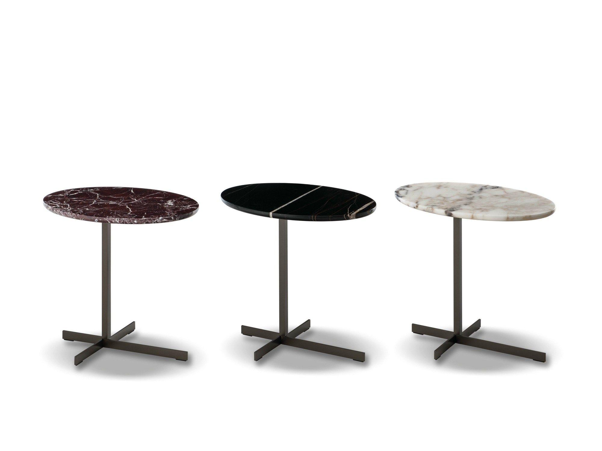 "Oval marble side table JOY ""JUT OUT"" by Minotti design Rodolfo"