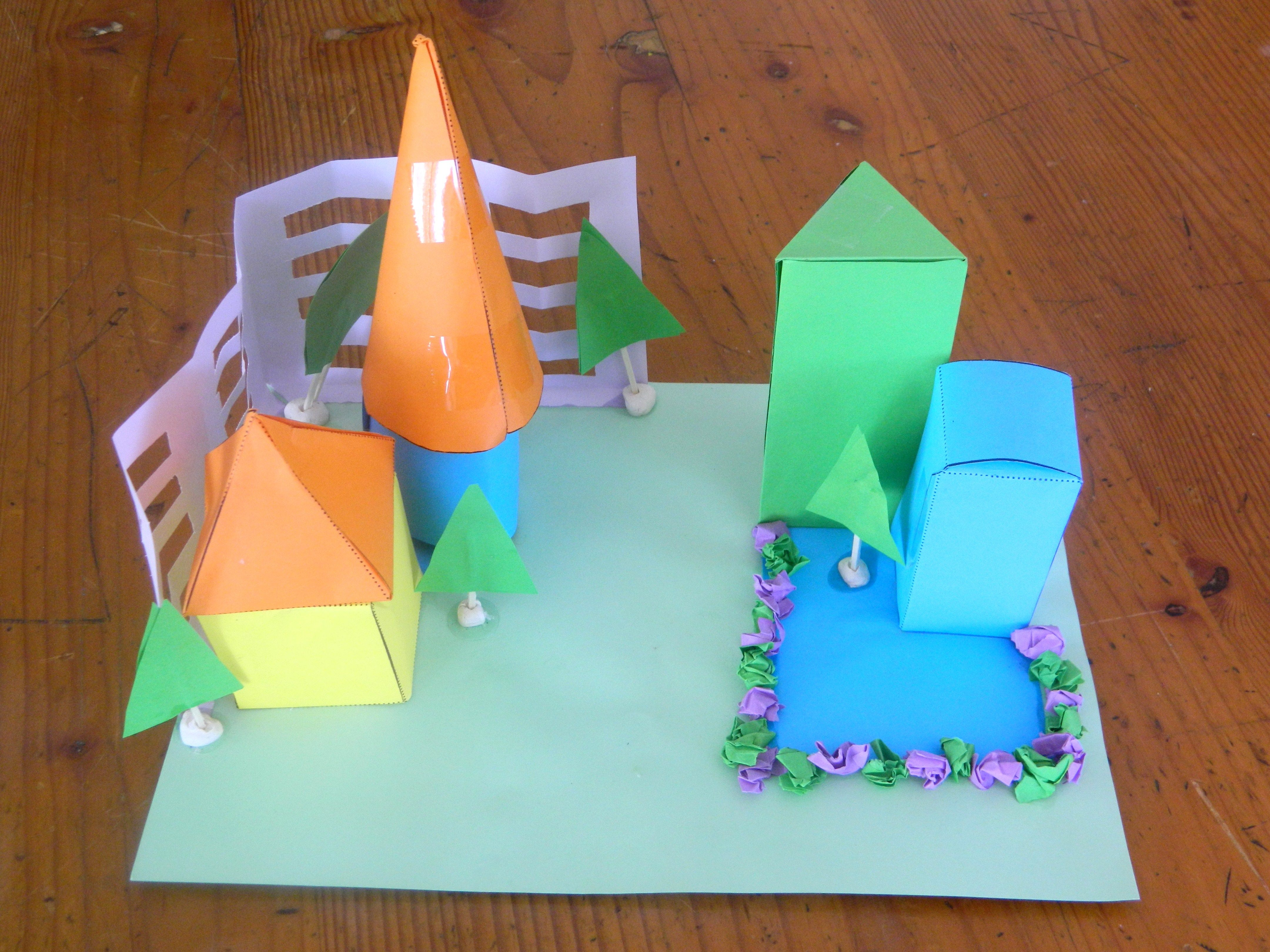 Use 3D shape nets to create a cardboard construction each child can ...