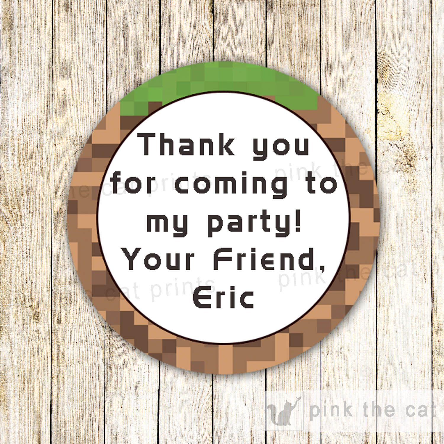 Video Game Gift Favor Labels Thank You Stickers Customized With
