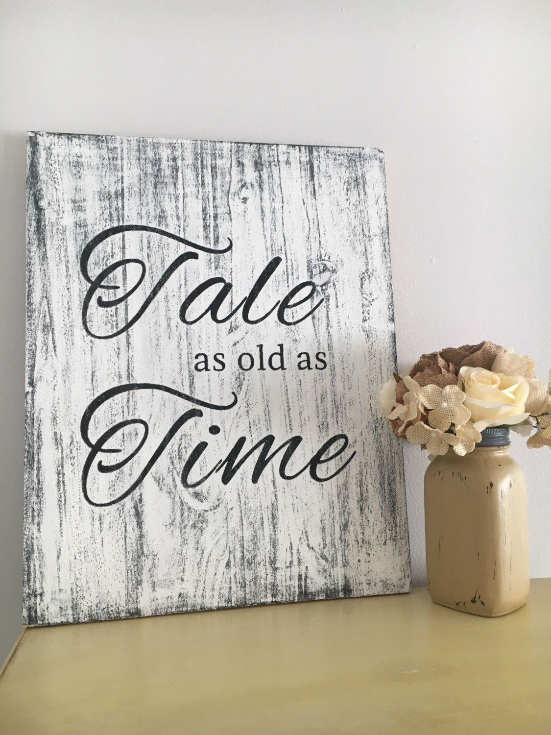 Tale As Old As Time Disney Wedding Sign Disney Sign