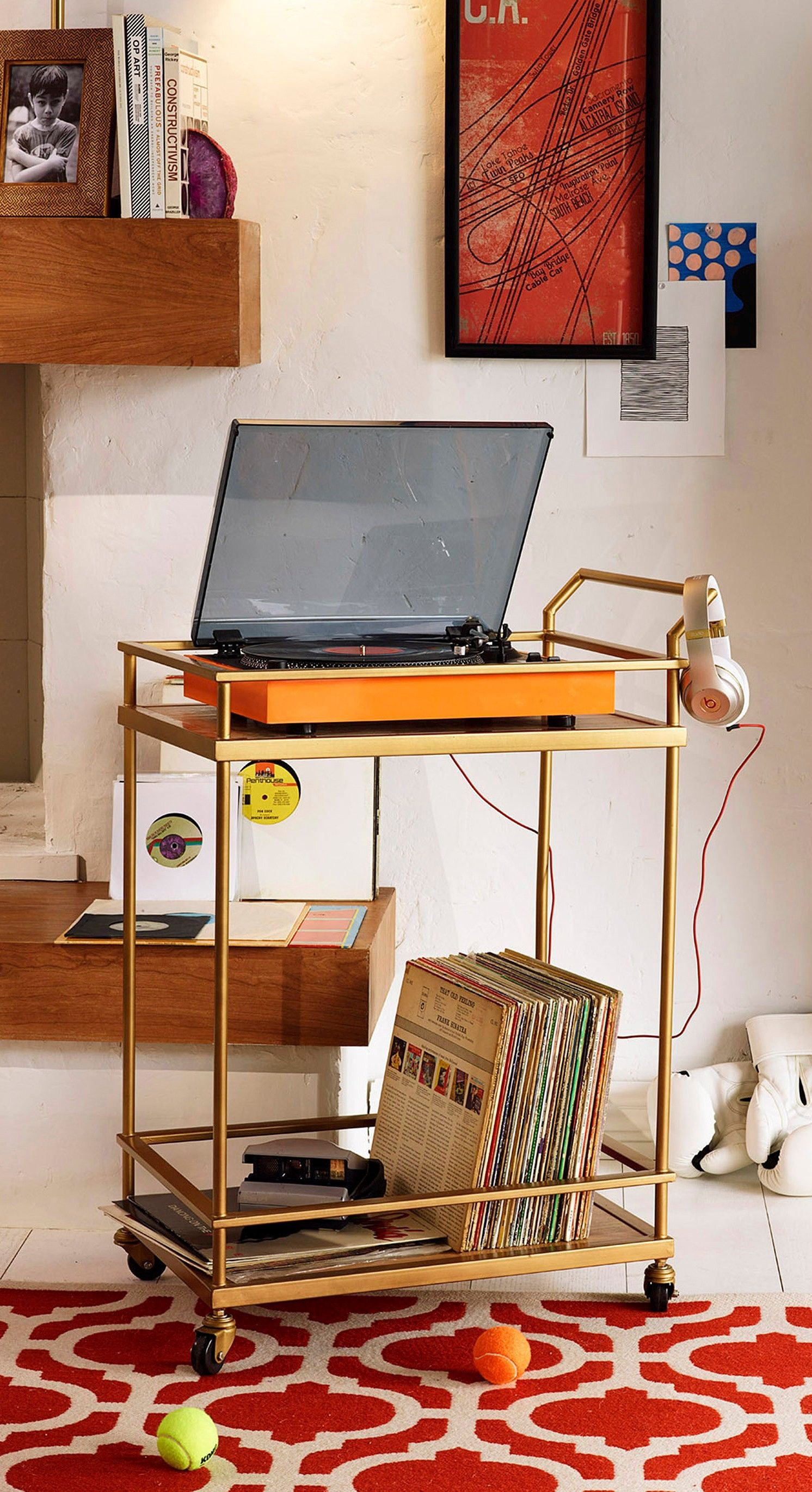 Target S Threshold Bar Cart As Turntable Stand With Images Bar