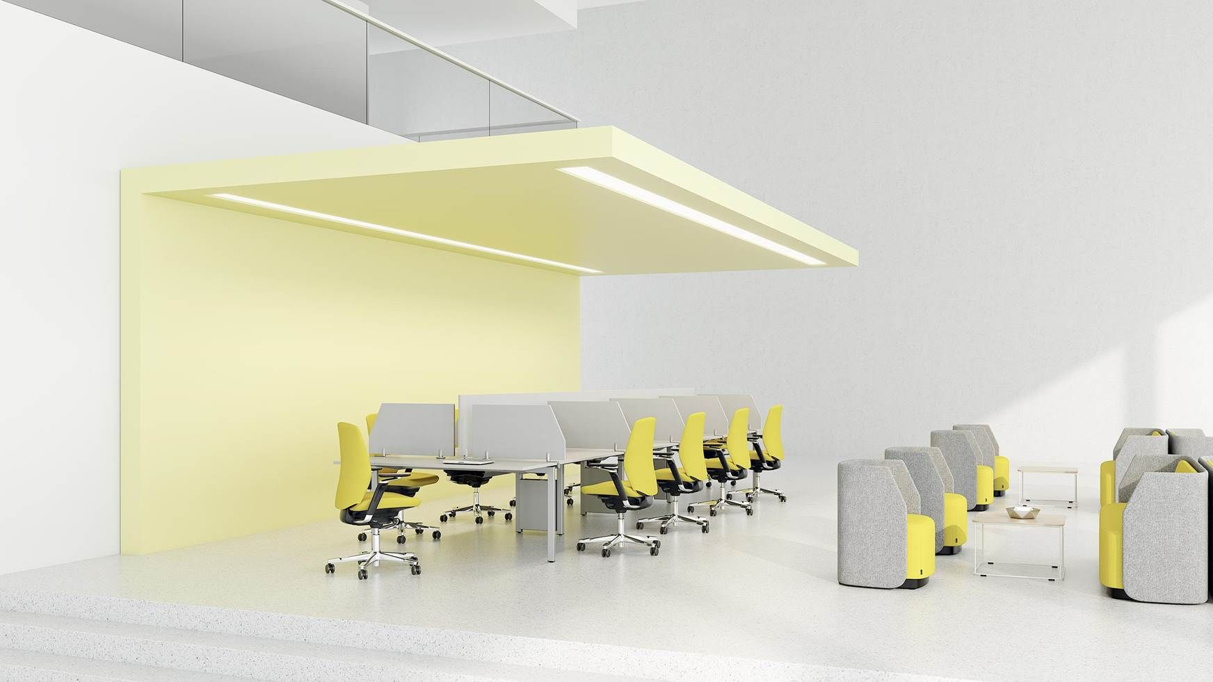 Obiekty referencyjne - Kinnarps Open Space with workstations and ...