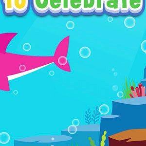 Invitación del tiburón del bebé Drive By invitación del video del tiburón del bebé desfile del cumpleaños cumpleaños del tiburón bebé bebé tiburón conducir por