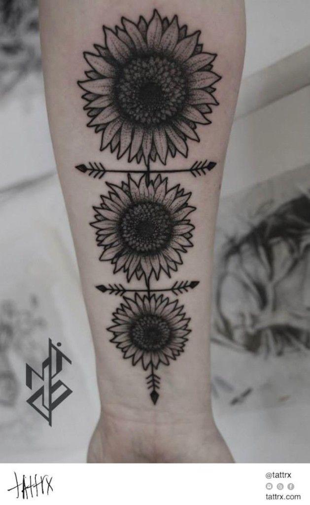 Small Sunflower Tattoo Designs: All The Best Gorgeous Sunflower Tattoo Designs