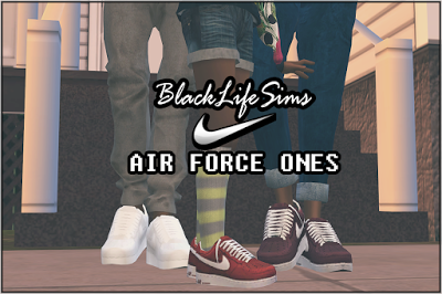 My Sims 4 Blog: Air Force Ones in 8 Colors for Males and Females b · Nike  ...