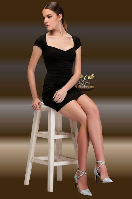 Asi Menekse-png-resim-paylaşımı : female black dress tubes,sitting woman tubes,Asi M...