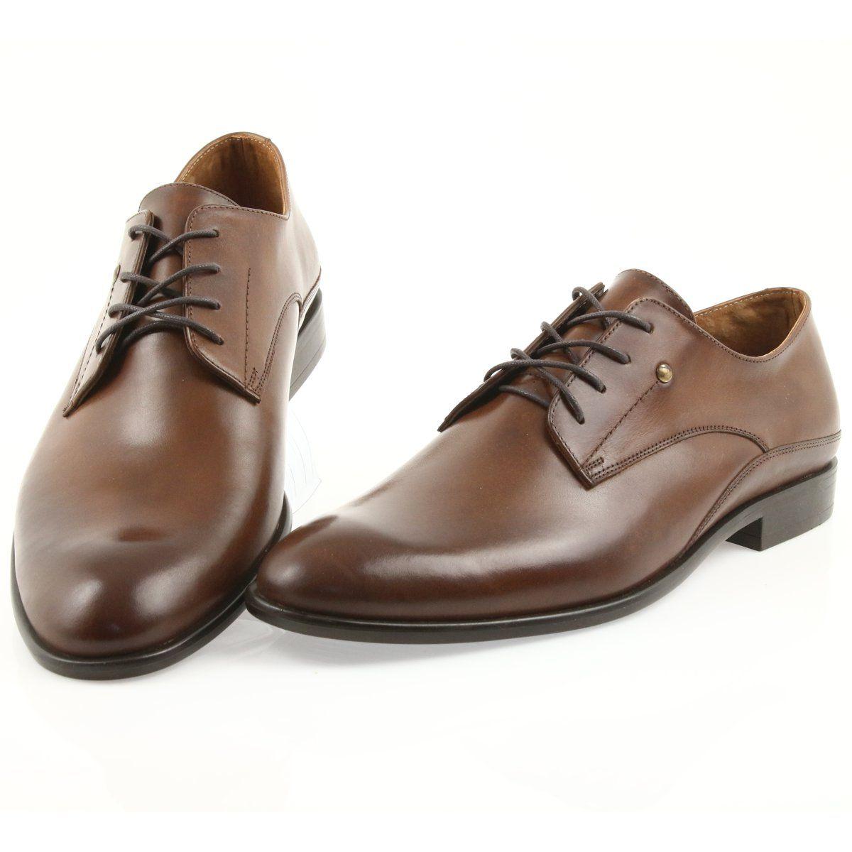Badura Polbuty Wiazane Meskie 7777 Brazowe Zapatos Zapatos Casuales Botines