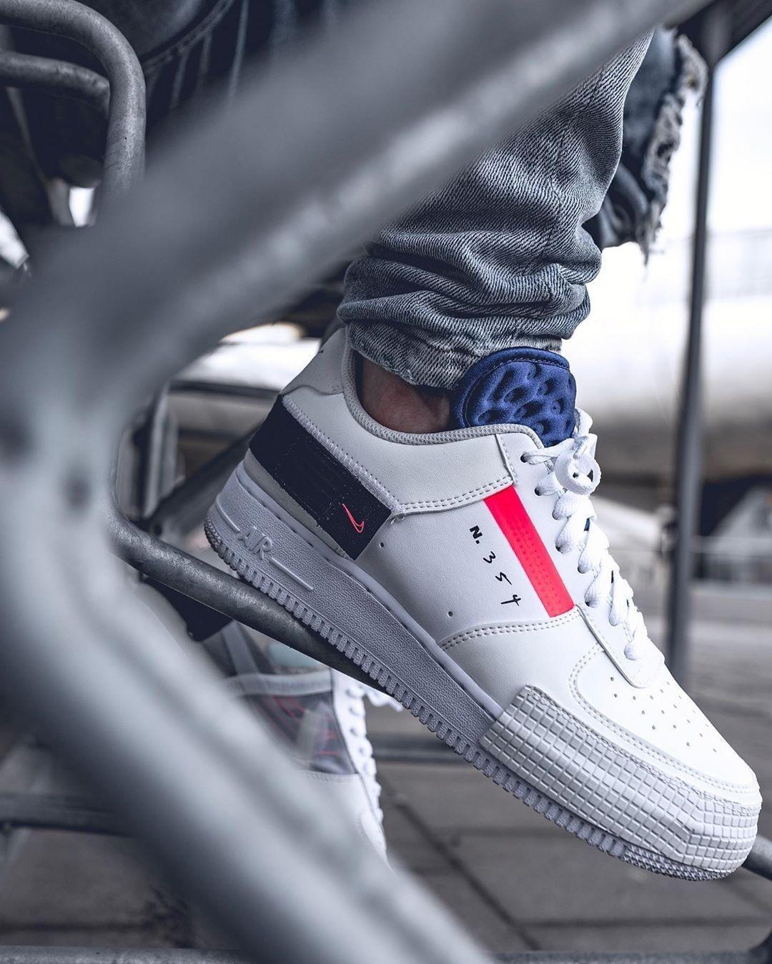 Air Force 1 Low Drop Type White en 2020 | Nike air force