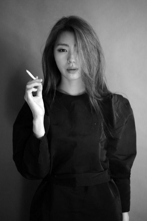 Asian girls smoking