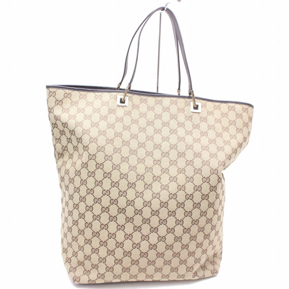 Authentic Gucci Tote Bag Browns Canvas 172491 Fashion Clothing