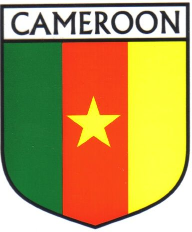 Cameroon flag country flag cameroon decals stickers set of 3