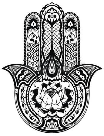 Stock Vector Hamsa Art How To Draw Hands Hamsa Symbol