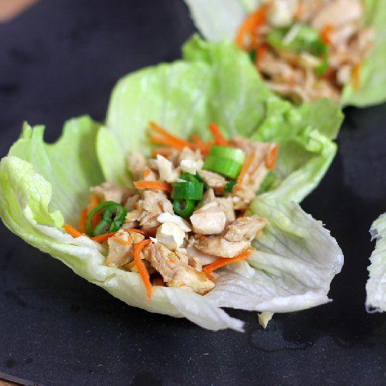 mu shu moo shu chicken wrapped in lettuce wrap a great