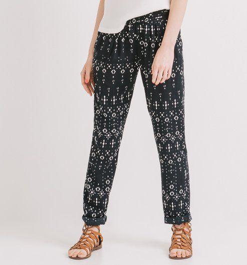 pantalon fluide noir promod